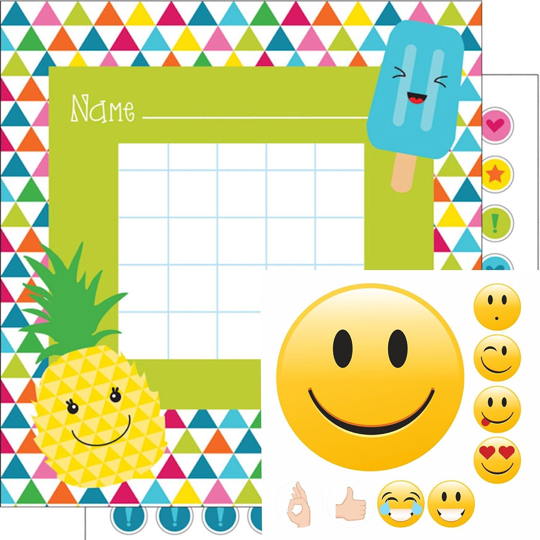 By Diana Belohnungssystem für Kinder Thema Sommer + Smileys gut Gemacht mit ca. 150 Teilen - Motivation Lernziele mit Spass ✔️