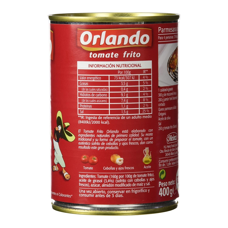 Orlando - Tomate frito clsico, 400 g - [Pack de 6]: Amazon.es: Alimentación y bebidas