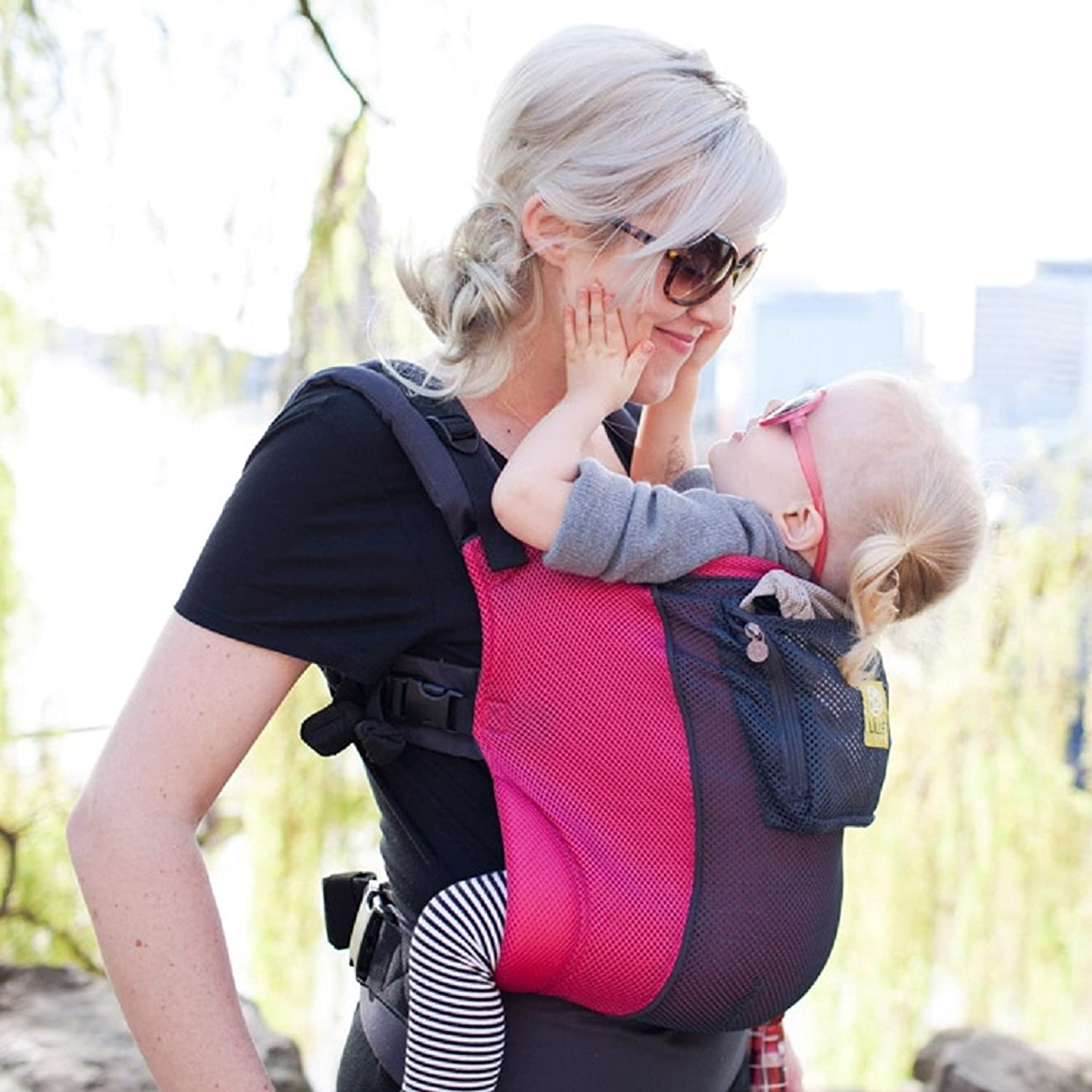 Air Charcoal Berry LILLEbaby 3 in 1 CarryOn Toddler Carrier