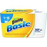 """Bounty 92970 Basic Select-A-Size Paper Towels, 5-9/10"""" x 11"""", 1-Ply, White (Pack of 12)"""