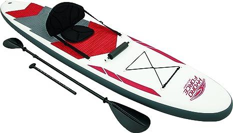 Bestway 8321637 Tabla Paddle para Surf Profesional con Remo Asiento Desmontable, 335 x 76 x 15 cm, Unisex, Blanco