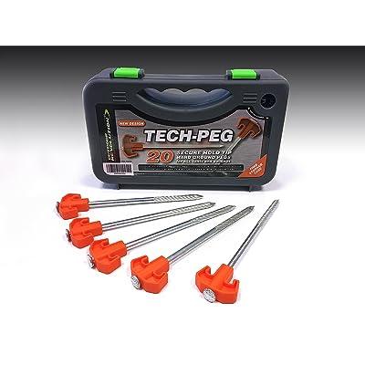 Outdoor Revolution en acier résistant Tente Auvent Piquets de sol dur Tech–Orange (boîte de 20)