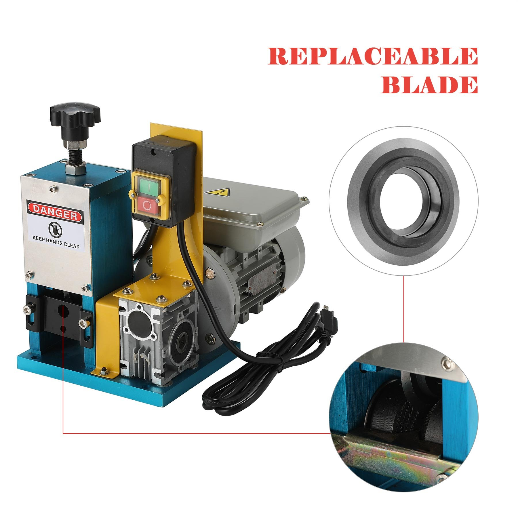 CO-Z Automatic Electric Wire Stripping Machine Portable Scrap Cable Stripper for Scrap Copper Recycling, including Extra Blade