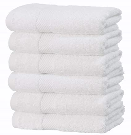 Amazon Com Luxury White Hand Towels Soft Circlet Egyptian Cotton