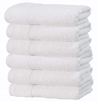 White Classic Toallas de Lujo Blanca de la Mano de Set-Baño-Hotel-