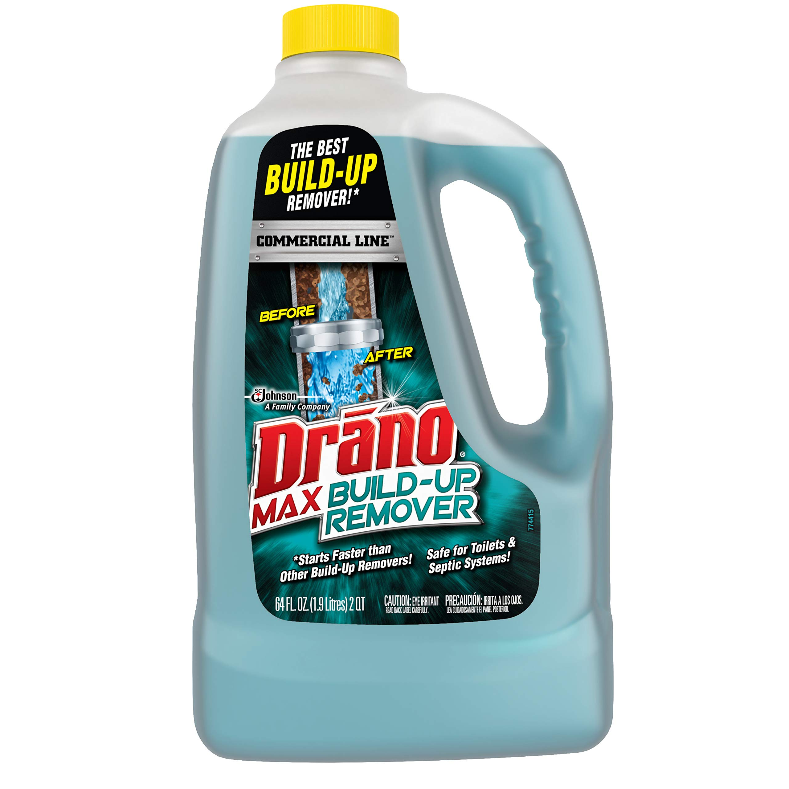 Drano Max Build-Up Remover, Commercial Line, 64 Fluid Ounce (Pack of 4)