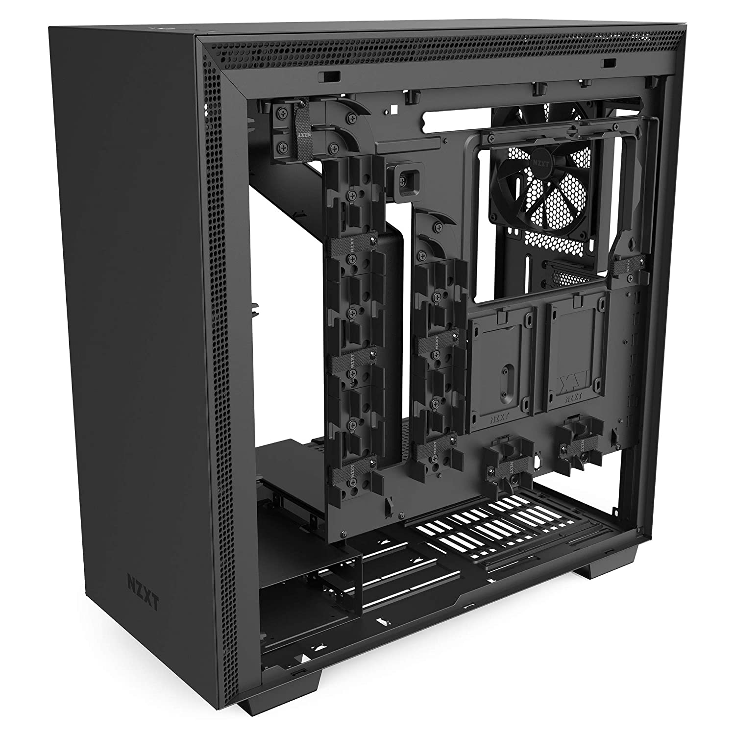 Water-Cooling Ready NZXT H210 Front I//O USB Type-C Port Mini-ITX PC Gaming Case Steel Construction White//Black Tempered Glass Side Panel Radiator Bracket Cable Management System