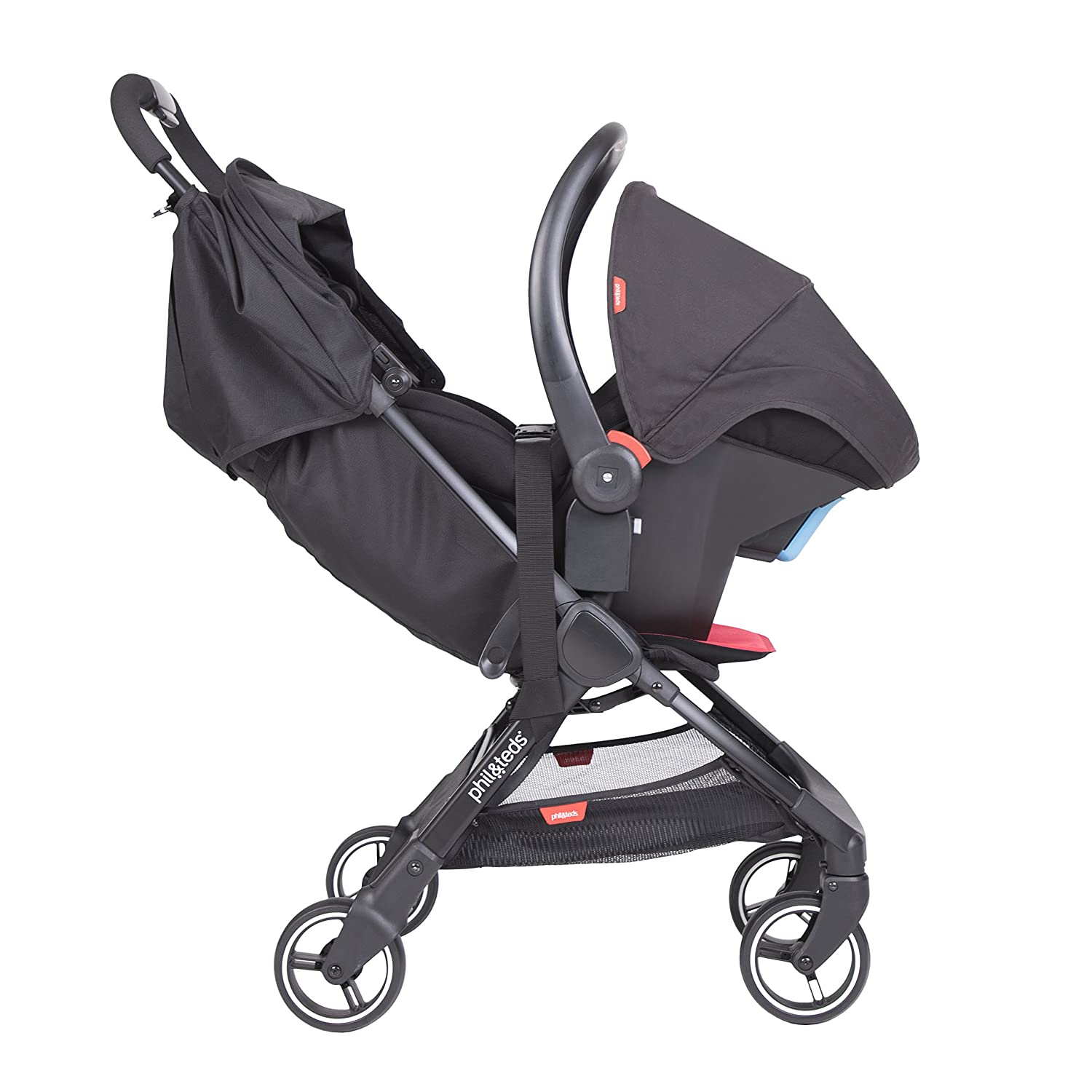 ... Light (11lbs) - Compact, One Hand Stand Fold - Removable Bumper Bar - Removable and Reversible Seat Liner - Travel System Ready - Full Suspension : Baby