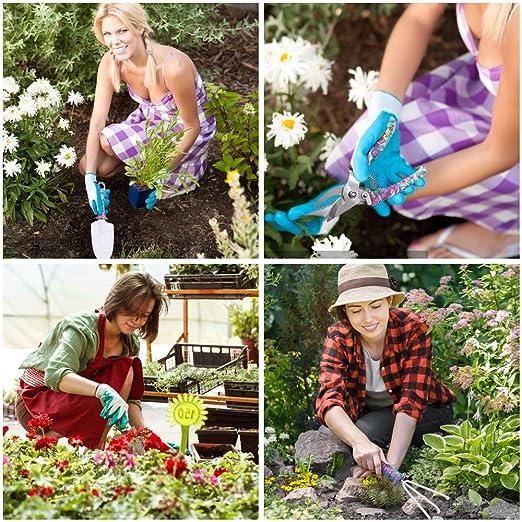 13 piezas herramientas de jardín Set, Kit de herramientas de jardinería, herramientas de mano Set jardinería regalo para el jardinero por ayuboom: ...