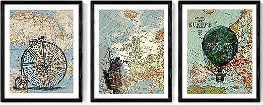 Nacnic ACK de láminas para enmarcar Viajando por EL Mundo. Posters ...