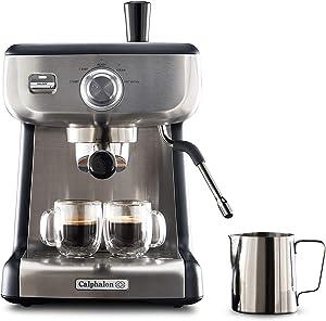 Calphalon BVCLECMP1 Temp iQ Espresso Machine with Steam Wand, Stainless
