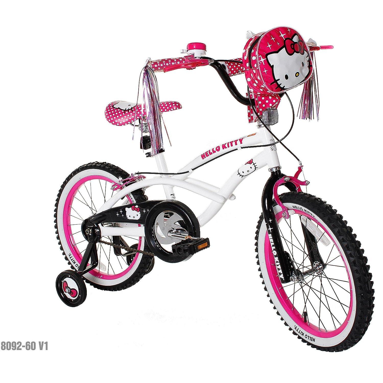 18 Hello Kitty Girls' Bike, Pink/White by Unknown B00BNYJJZ4