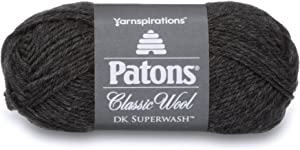 Patons Classic Wool DK Yarn, 1.75 oz, Dark Gray, 1 Ball