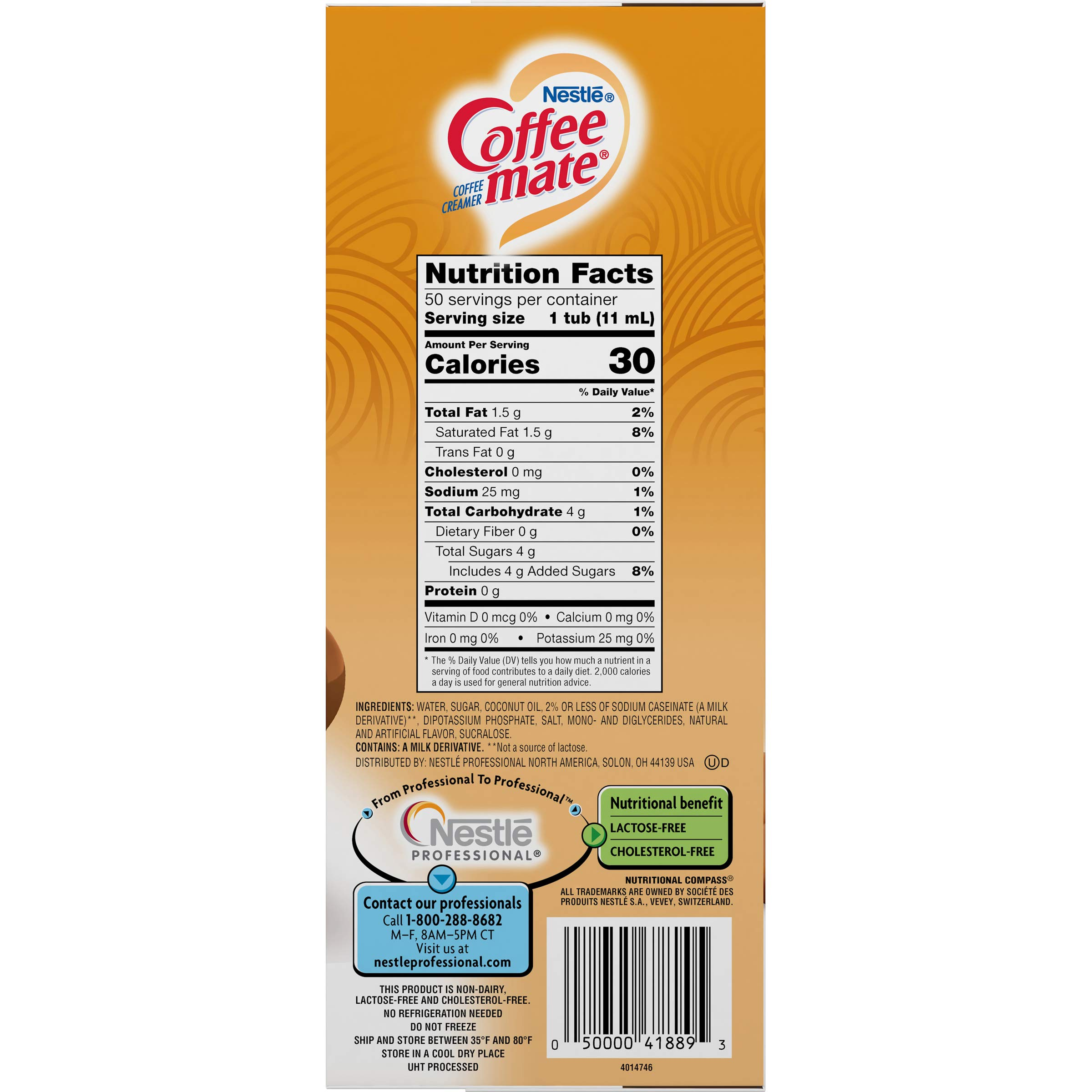 Nestle Coffee-mate Coffee Creamer, Butterscotch, Liquid Creamer Singles,50 Count (Pack of 4) by Nestle Coffee Mate (Image #5)