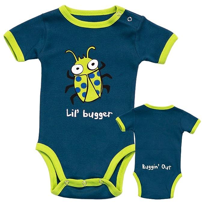 LazyOne Chicos Lil Bugger Mameluco Bebé 12 Meses
