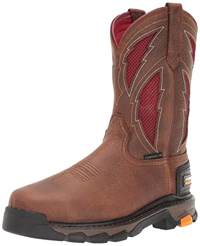 b4c3e1641ed Ariat Men's Intrepid VentTEK Lightning Composite Toe Work Boot, rye  Brown/red, 7.5EE