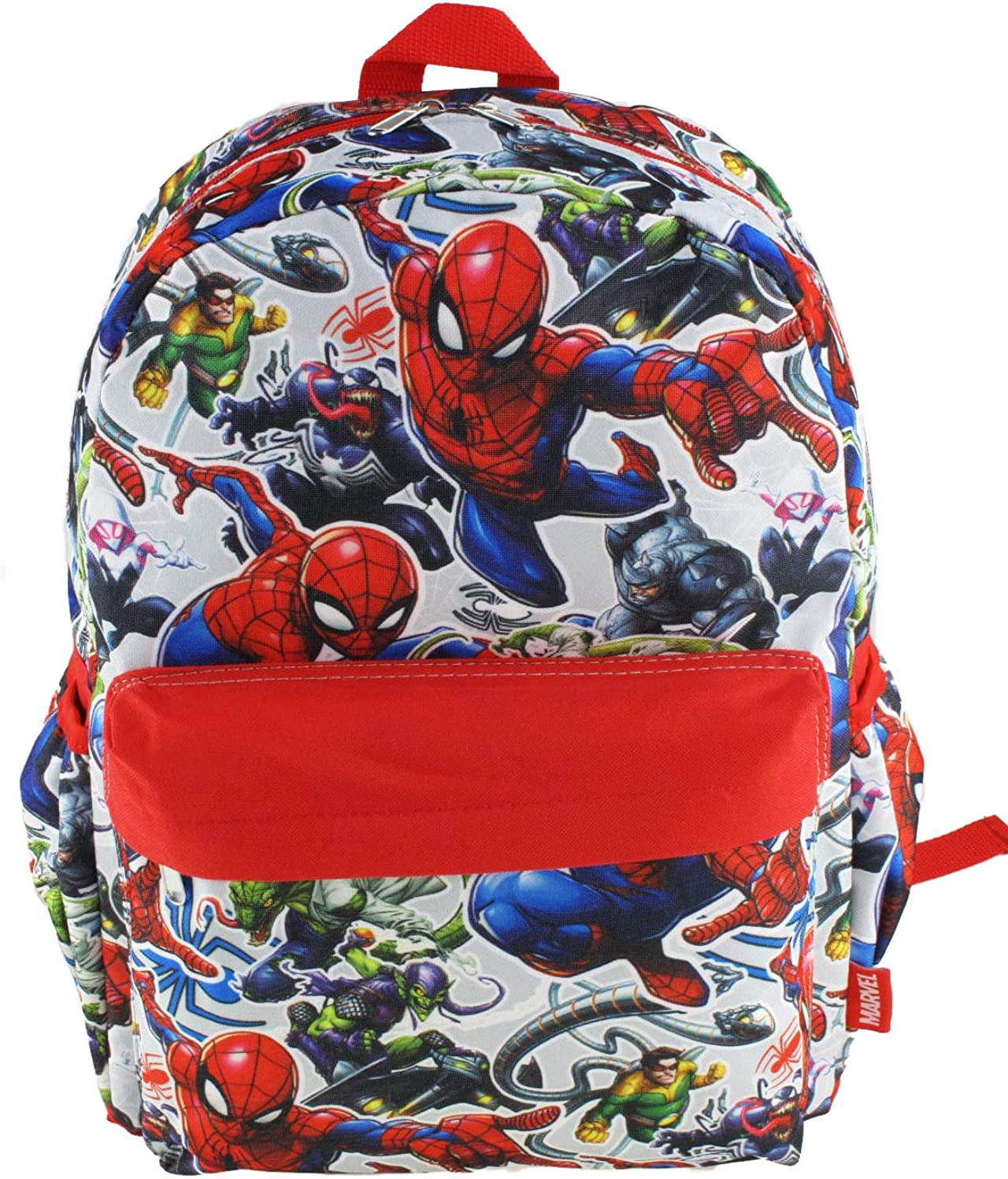 Marvel Spiderman 16 inch All Over Print Deluxe Backpack With Laptop Compartment