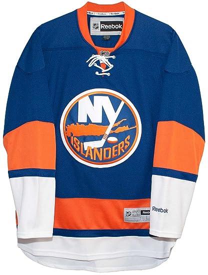 a9871105 Amazon.com : New York Islanders Home Blue Reebok Premier Men's ...