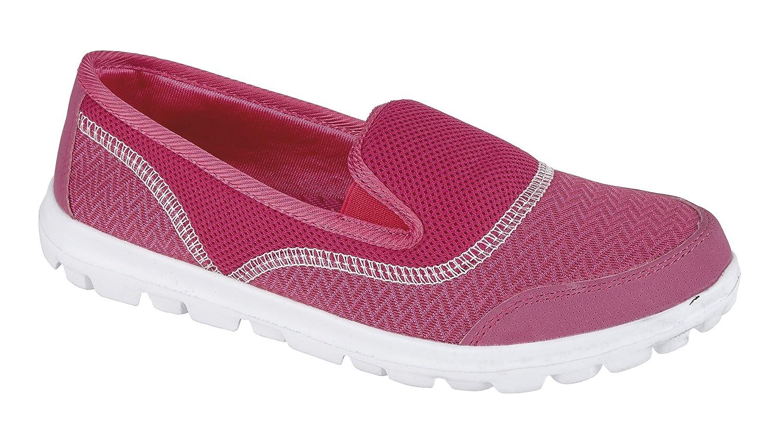 Donna peso less Air Tech donna sneaker slip on pompe mocassini scarpe ragazze taglie Rosa