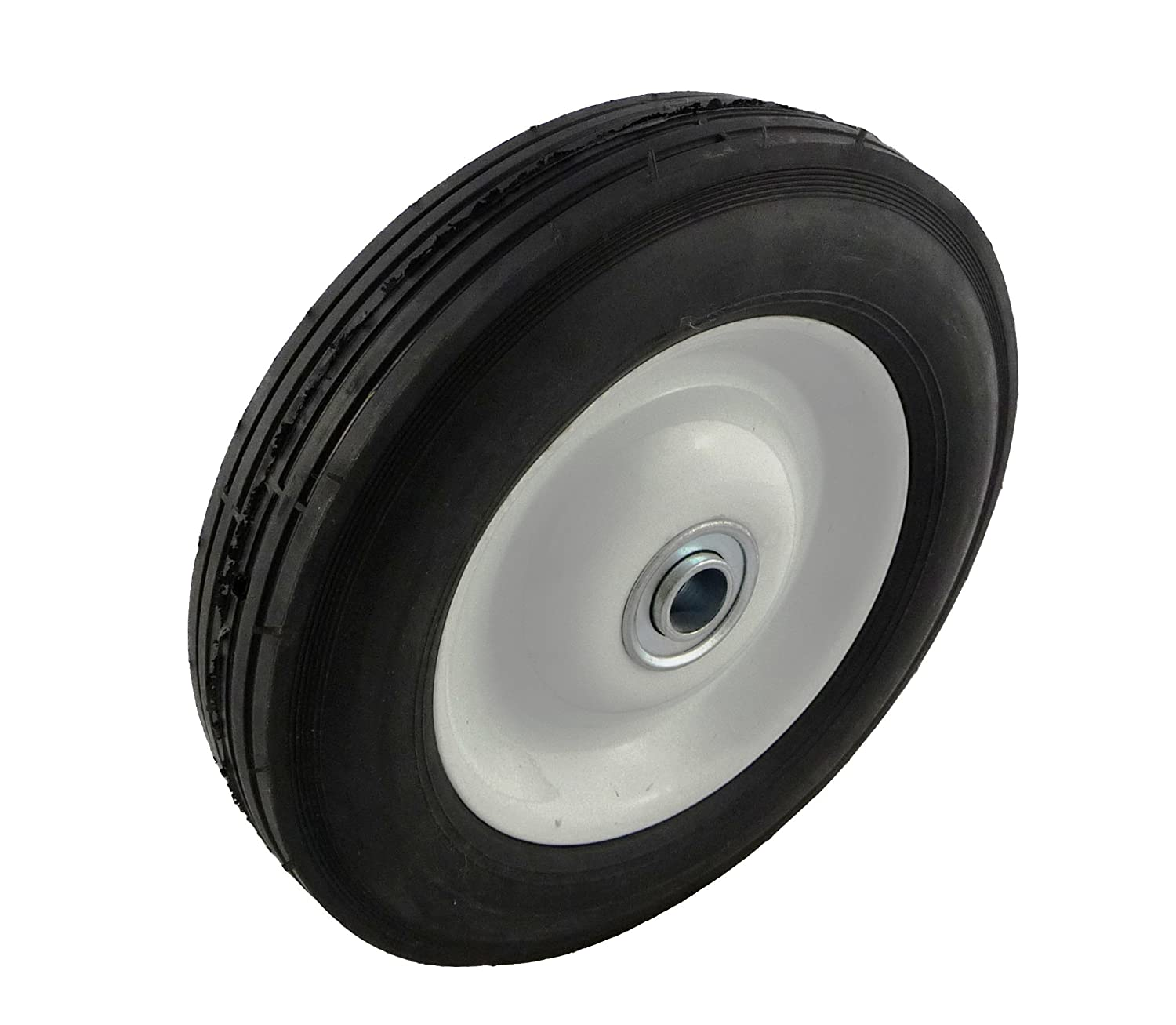"Marathon 8x1.75"" Semi Pneumatic Tire on Wheel with Offset Hub"