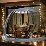 Leedor Gazebos for Patios Screen House Room 4-6 Person Canopy Mosquito Net Camping Tent Dining Pop Up Sun Shade Shelter Mesh