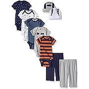Gerber Baby 9 Piece Playwear Gift Set, Sports, 0-3 Months