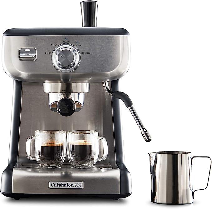 Amazon.com: Calphalon BVCLECMP1 Temp iQ Espresso Machine with Steam Wand, Stainless: Kitchen & Dining
