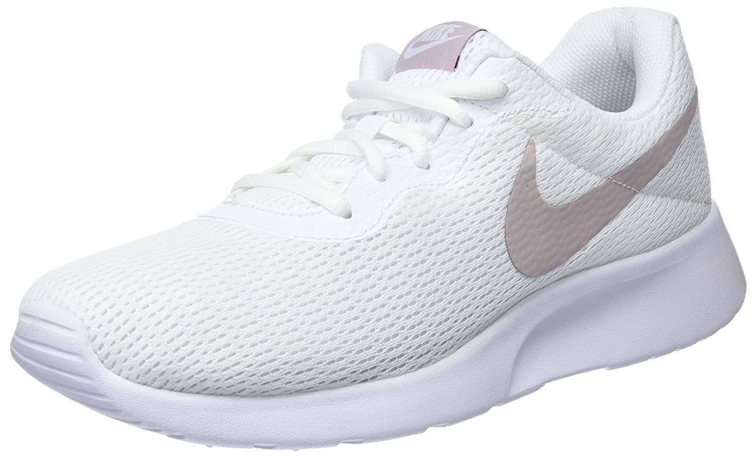 NIKE Women's Tanjun Running Shoes B07CF5ZRMY 7 B(M) US|White/Metallic Silver/Pure Platinum