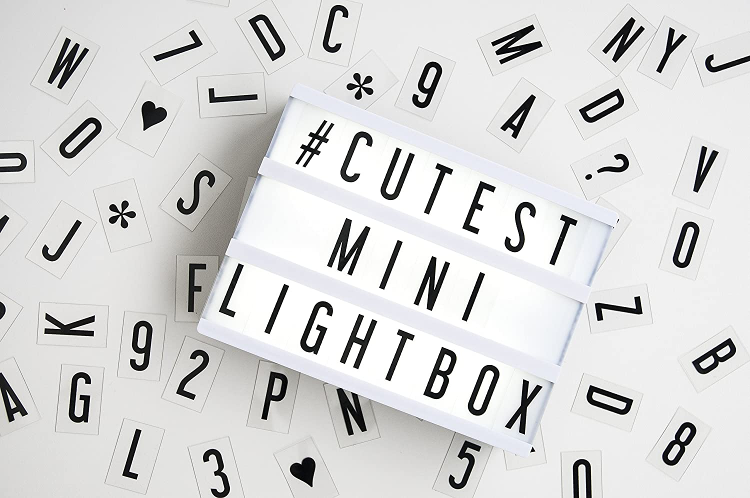 Amazon mini my cinema lightbox led with 100 letters amazon mini my cinema lightbox led with 100 letters numbers characters to create personalized marquee signs includes usb or battery powered buycottarizona Images