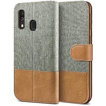 BEZ Funda Samsung Galaxy A40, Carcasa Compatible para Samsung A40 Libro de Cuero con Tapas y Cartera, Cover Protectora con Ranura para Tarjetas y ...