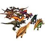 Universal Specialties 12 Piece Colorful Dinosaur Play-Set Action Figures Ultra Realistic