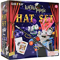 Click N' Play Magician Dress Up Magic Tricks Set for Kids Over 150 Tricks Includes Manual & DVD Tutorial
