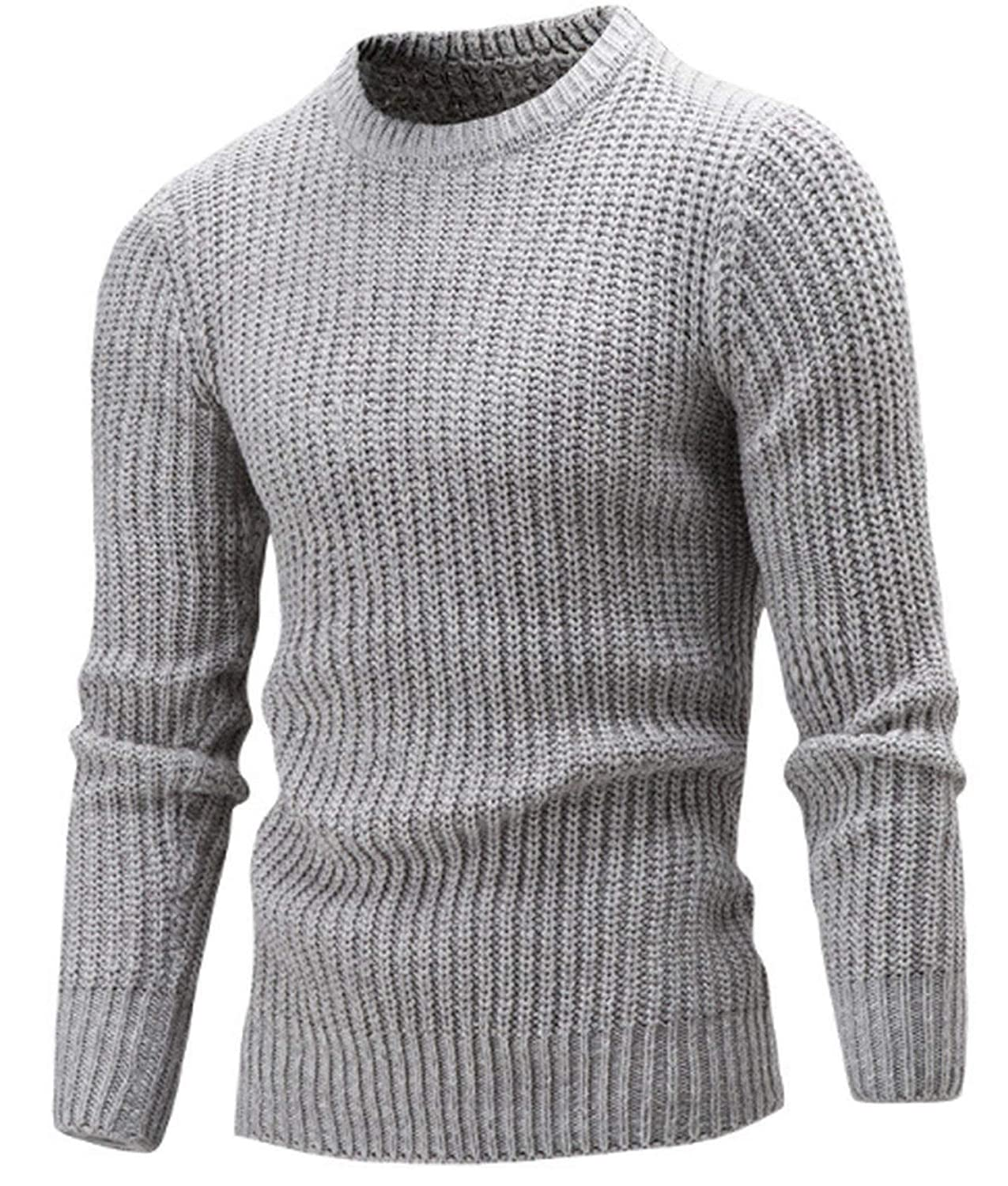 Clothing Men Sweater Simple O-Neck Slim Fit Casual Pullover Men Sweaters Knitting Mens XXL