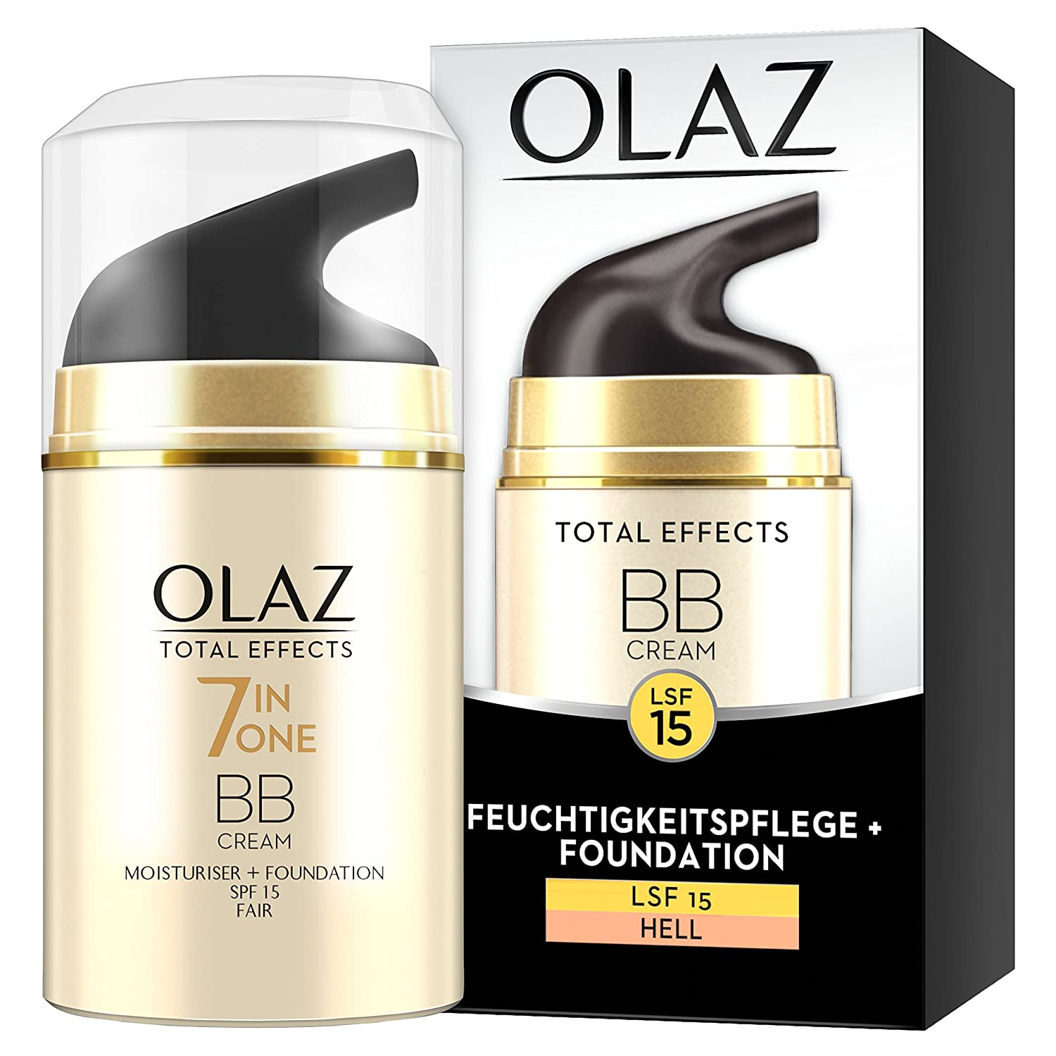 Olaz Total Effects BB Cream Touch of Foundation, Hell, Pompa, 1er Pack (1X 50ML) Procter & Gamble 8001090415769