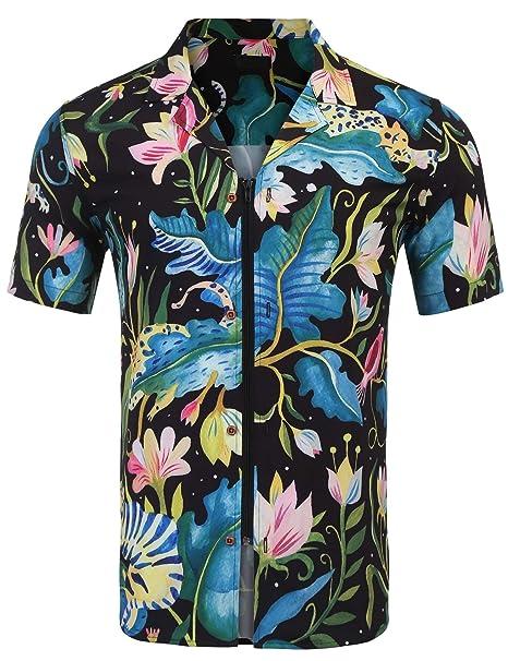 Men Tops Male Summer Slim Fit Clothing T shirt Bodybuilding Floral Print Fashion