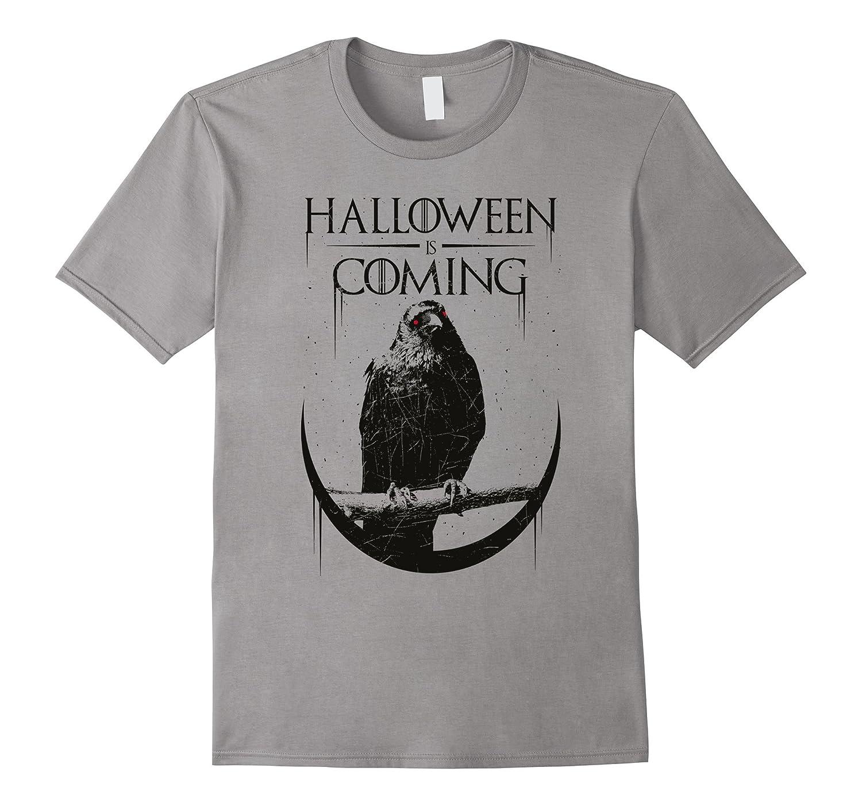 Halloween is Coming Black Bird T-Shirt-RT