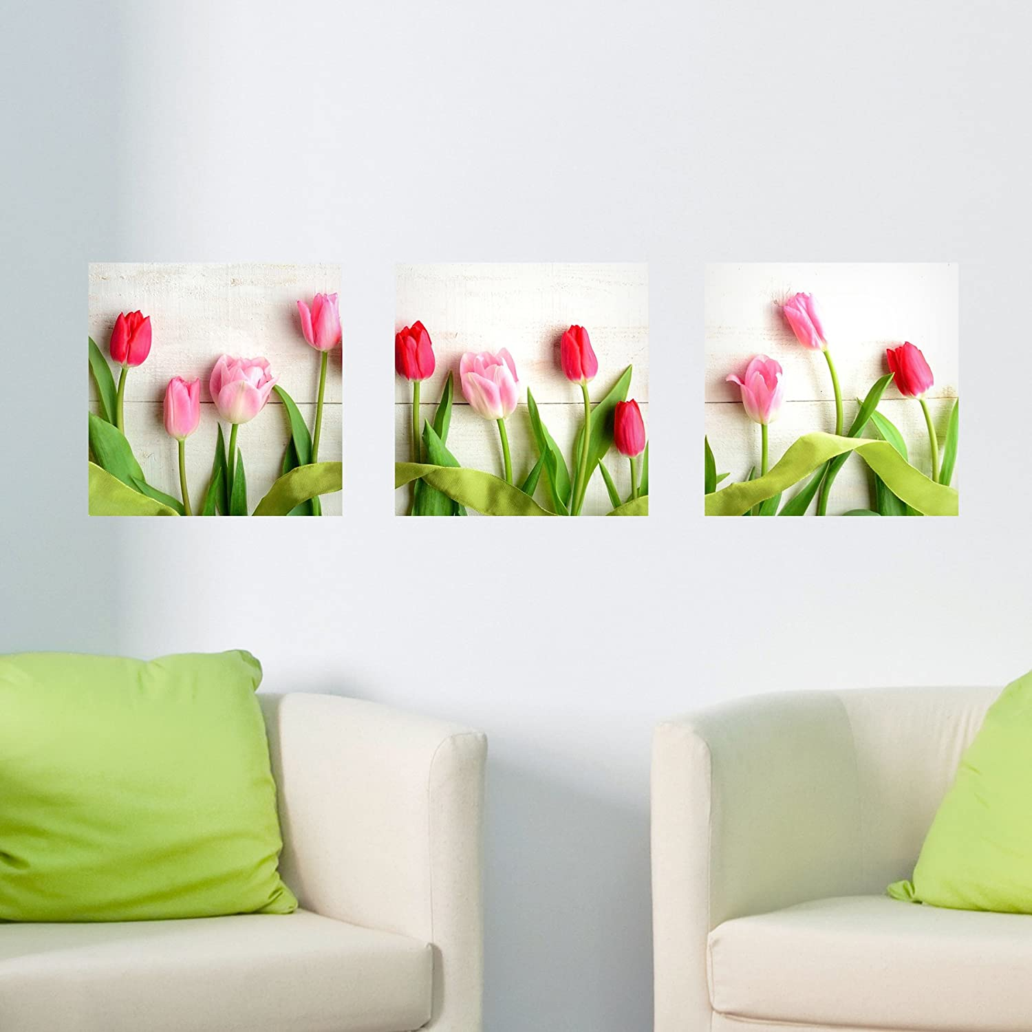 Home Decor Line Tulips Panoramic Wall Decals
