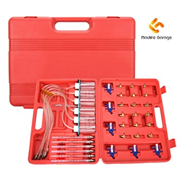 Diesel Flow Test Meter Adaptor Set Injector Common Rail 6 Cylinder Bosch Fuel