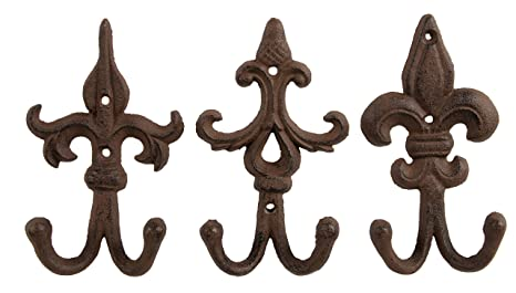 Architectural & Garden Set of 4 Cast Iron Shelf Brackets SMALL 6.25 x 4.25 Hangers New Antique Style