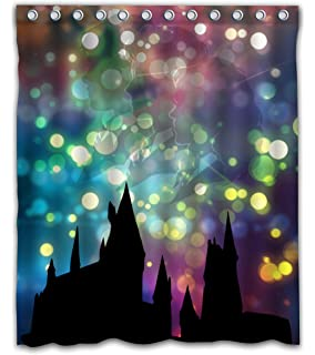 Delean Custom Hogwarts School Of Witchcraft And Wizardry Fabric Water Proof Shower Curtain Printed For