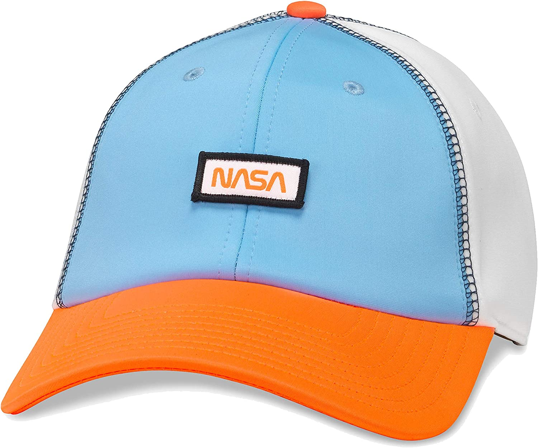 American Needle NASA Mars Riptide Slouch Curved Brim Adjustable Plastic Clip-On Backstrap Hat