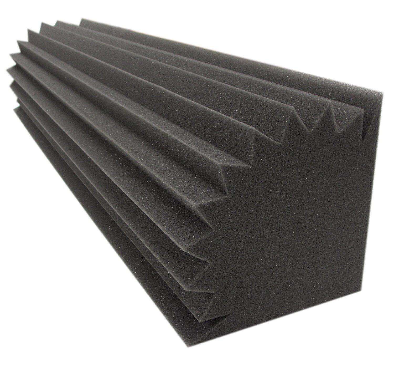Bass Trap Absorber (4 Stk. Ca.100x20x20cm) Lamellen (Pyramiden) Profil DN