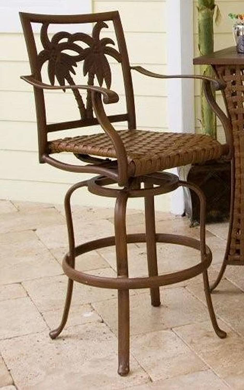 Hospitality Rattan Coco Palm Patio 30 Swivel Barstool