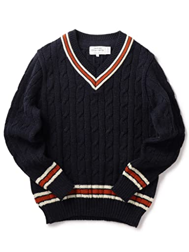 James Charlotte Wool Cricket Sweater 126-18-0004: Navy
