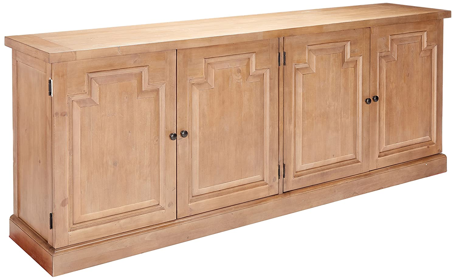 Florence Server with Raised Panels and Nested Drawers Rustic Smoke