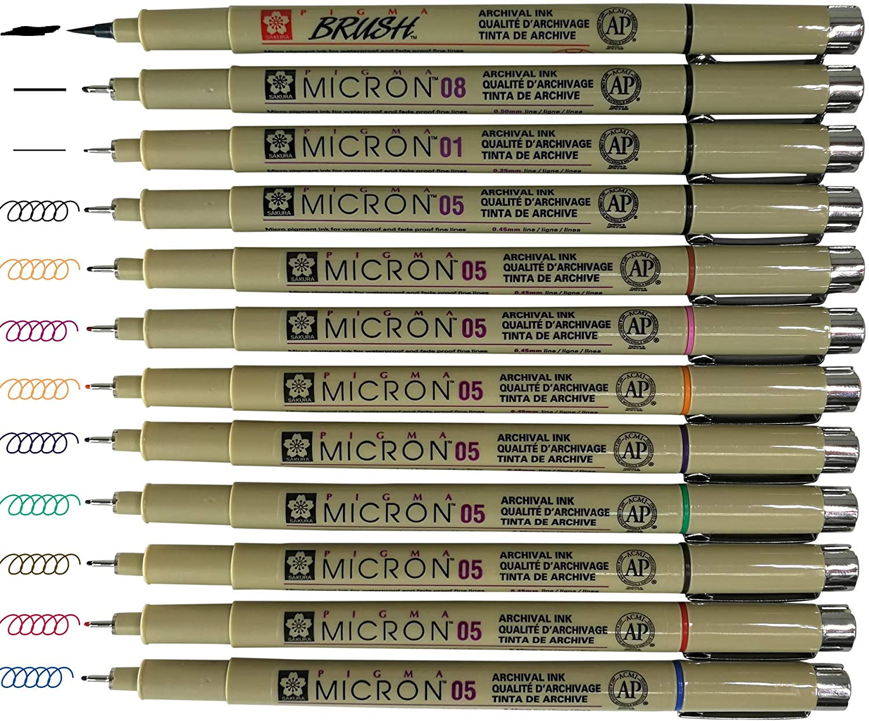 XSDK08-36 Sakura Pigma Micron 08 Marker Pen Pack of 1 0.5mm Tip Blue