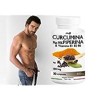 CURCUMINA Plus 95% potenziata con PIPERINA (30 CPR) per la perdita di peso - 20 VOLTE PIU' EFFICACE! Prodotto ITALIANO