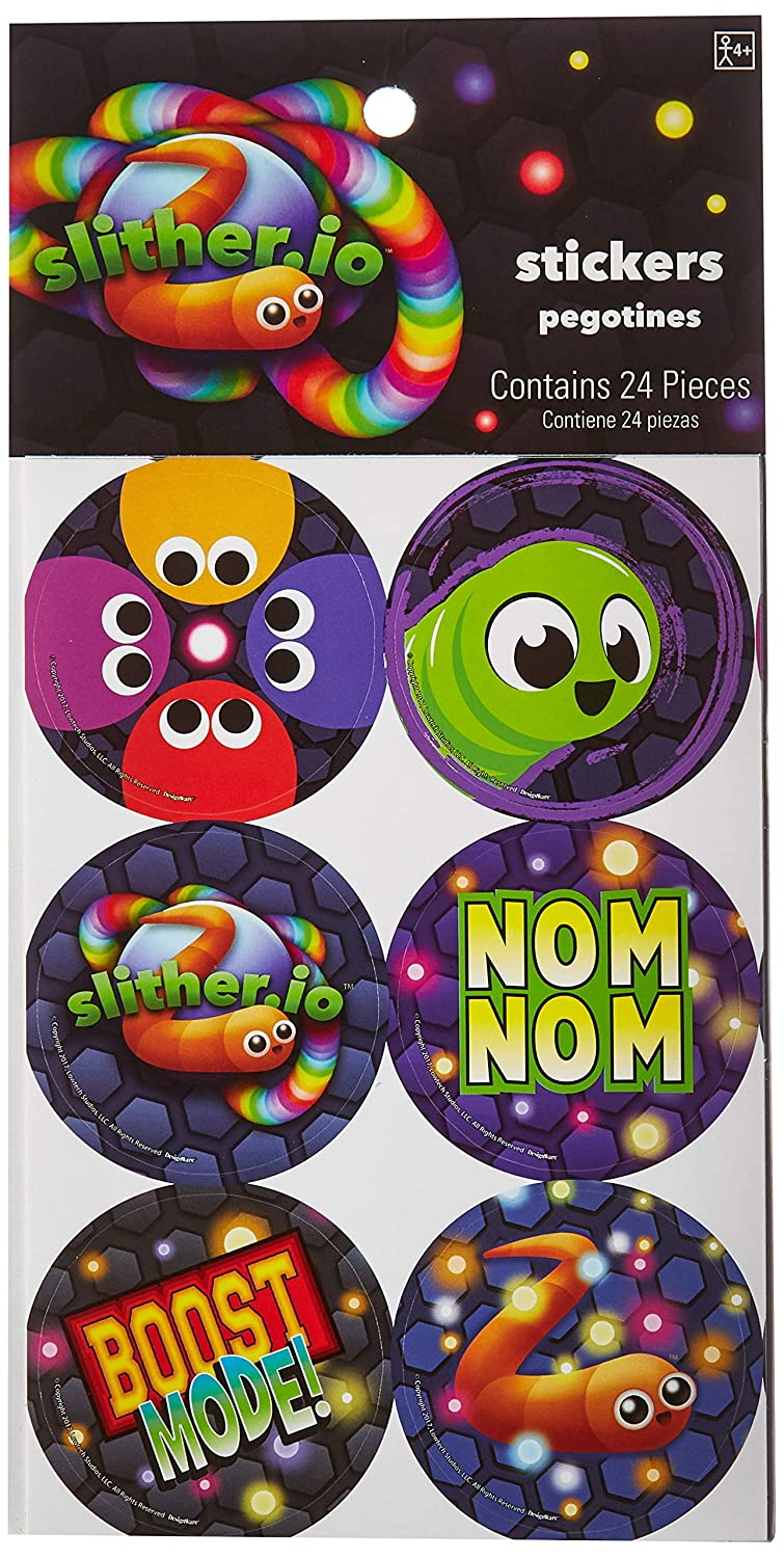 SDCC 2017 Slither.io 5pcs Exclusive Metalic Figure Set with sticker