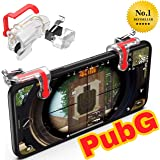 MoohMaya™ Premium Quality L1 R1 Dual Gamepad Trigger with Fire Shooter Controller Button Aim Key Mobile Gaming Joystick for PUBG/Knives Out/Rules of Survival (All Smartphones)