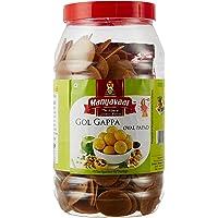 Manyavaar Ready to Fry Panipuri Golgappa Papad, 1kg Jar with Free 50g Panipuri Masala